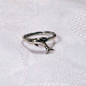 """Dainty """"Lil Dolphin"""" Sterling Silver Dolphin Ring"""